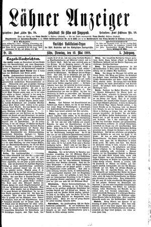 Lähner Anzeiger vom 19.05.1908
