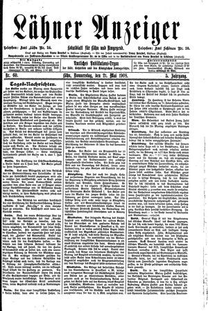Lähner Anzeiger on May 21, 1908