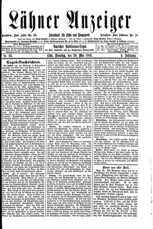 Lähner Anzeiger vom 26.05.1908