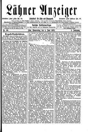 Lähner Anzeiger vom 04.06.1908