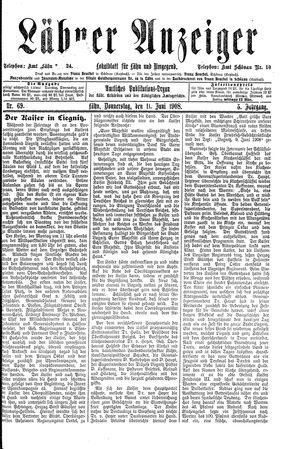 Lähner Anzeiger vom 11.06.1908