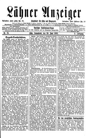Lähner Anzeiger on Jun 20, 1908