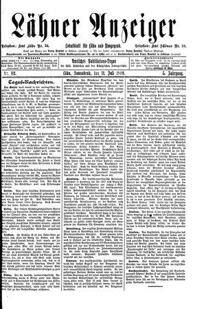Lähner Anzeiger vom 11.07.1908