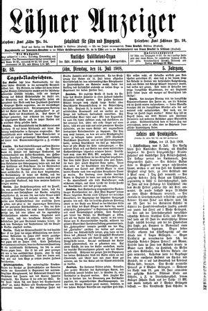 Lähner Anzeiger on Jul 14, 1908
