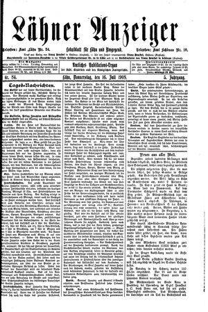 Lähner Anzeiger on Jul 16, 1908