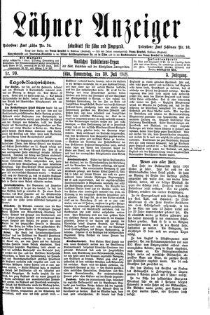 Lähner Anzeiger vom 30.07.1908