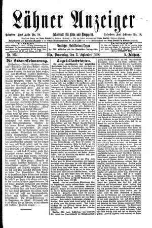 Lähner Anzeiger on Sep 3, 1908