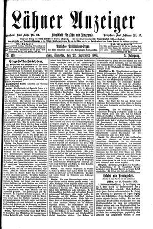 Lähner Anzeiger vom 22.09.1908
