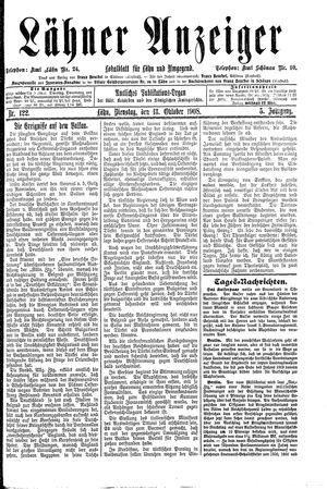 Lähner Anzeiger vom 13.10.1908