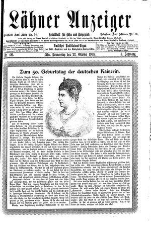 Lähner Anzeiger vom 22.10.1908