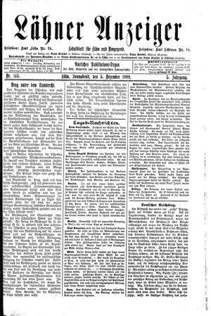 Lähner Anzeiger vom 05.12.1908