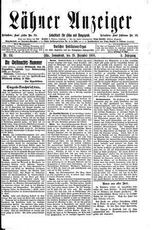 Lähner Anzeiger vom 19.12.1908