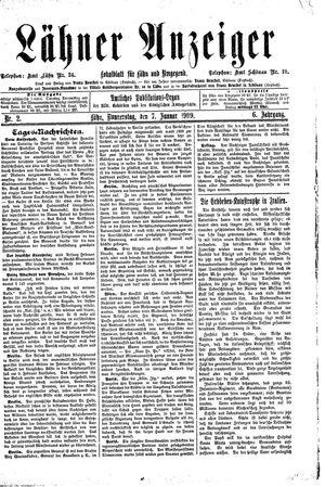 Lähner Anzeiger vom 07.01.1909