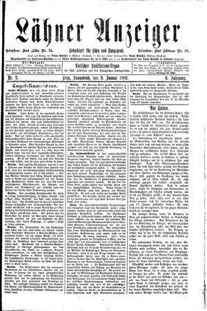 Lähner Anzeiger vom 09.01.1909