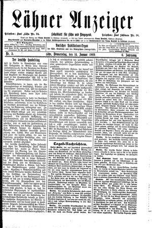 Lähner Anzeiger vom 14.01.1909