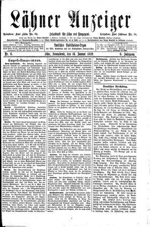 Lähner Anzeiger vom 16.01.1909