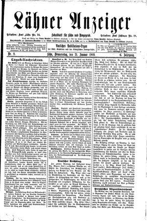 Lähner Anzeiger vom 21.01.1909