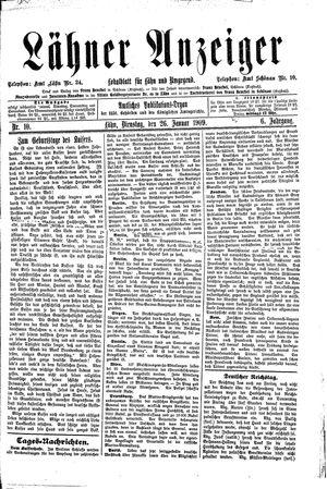 Lähner Anzeiger vom 26.01.1909