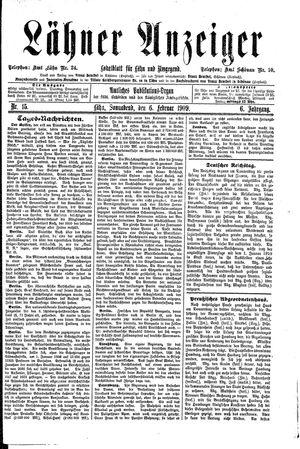 Lähner Anzeiger vom 06.02.1909