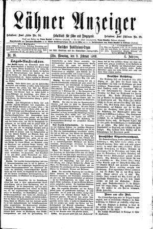 Lähner Anzeiger vom 09.02.1909