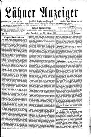Lähner Anzeiger vom 20.02.1909