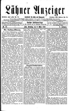 Lähner Anzeiger vom 09.03.1909