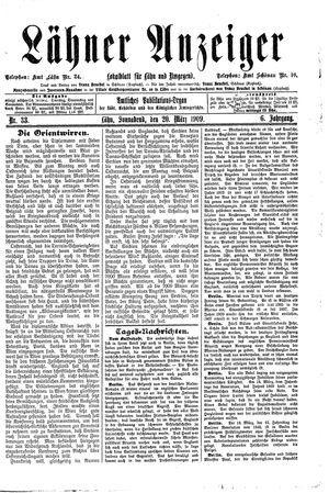 Lähner Anzeiger vom 20.03.1909