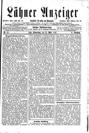 Lähner Anzeiger vom 25.03.1909