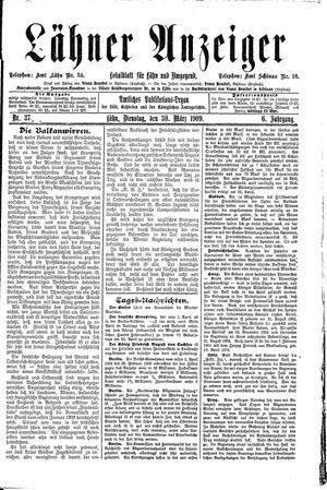 Lähner Anzeiger vom 30.03.1909