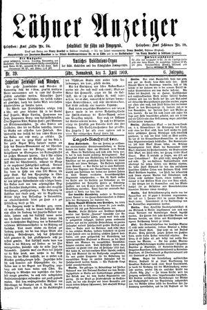 Lähner Anzeiger vom 03.04.1909
