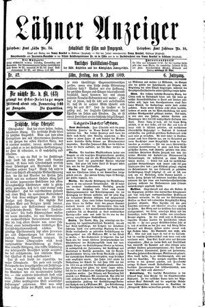 Lähner Anzeiger vom 09.04.1909