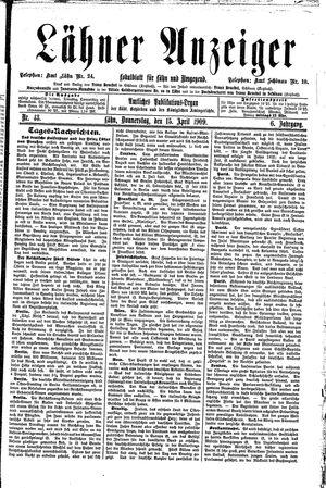 Lähner Anzeiger vom 15.04.1909