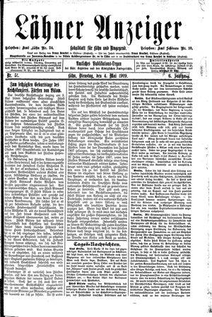 Lähner Anzeiger vom 04.05.1909
