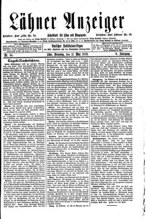 Lähner Anzeiger vom 11.05.1909