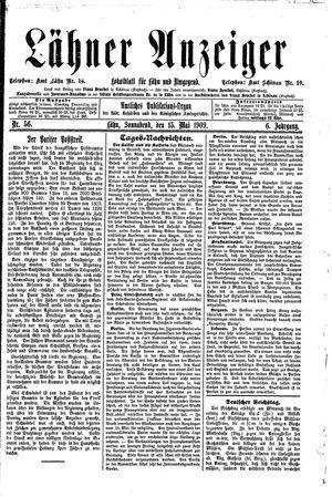 Lähner Anzeiger vom 15.05.1909