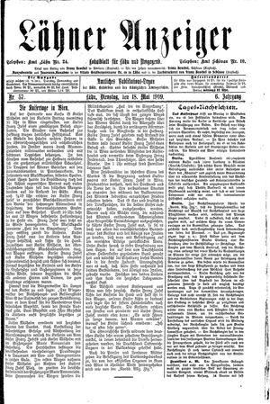 Lähner Anzeiger vom 18.05.1909