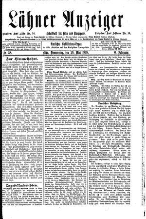 Lähner Anzeiger vom 20.05.1909