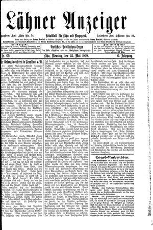 Lähner Anzeiger vom 25.05.1909