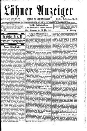 Lähner Anzeiger vom 29.05.1909