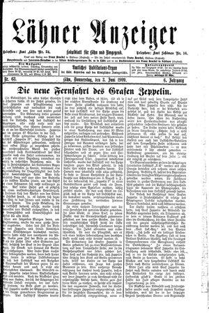 Lähner Anzeiger vom 03.06.1909