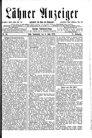 Lähner Anzeiger vom 05.06.1909