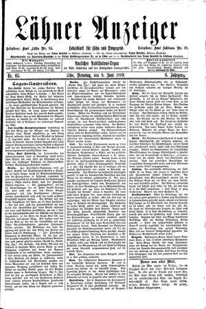 Lähner Anzeiger vom 08.06.1909