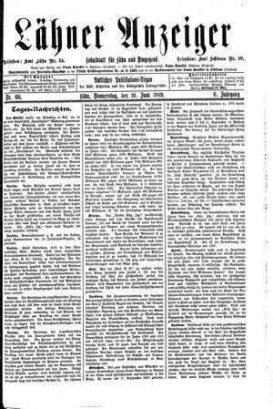 Lähner Anzeiger vom 10.06.1909