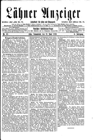Lähner Anzeiger vom 12.06.1909