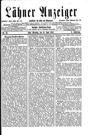Lähner Anzeiger vom 15.06.1909