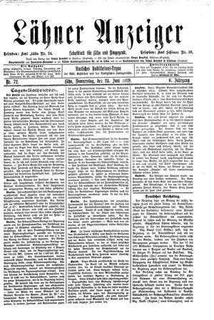 Lähner Anzeiger vom 24.06.1909