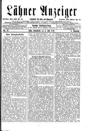 Lähner Anzeiger on Jul 3, 1909