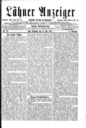 Lähner Anzeiger vom 13.07.1909