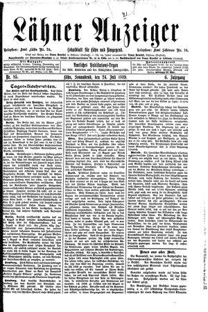 Lähner Anzeiger vom 24.07.1909