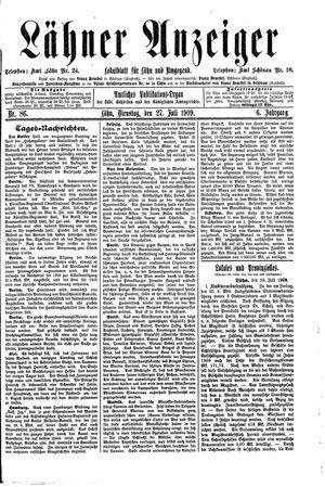 Lähner Anzeiger vom 27.07.1909